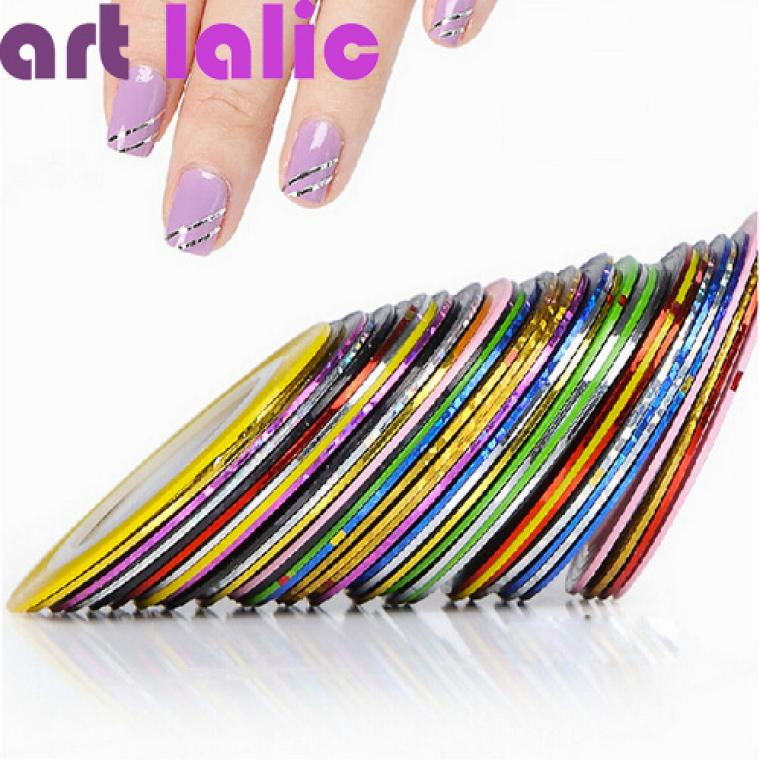 30pcs 30 multicolor mixed colors rolls striping tape line nail art 10pcs striping tape line nail art sticker decoration diy dec prinsesfo Choice Image